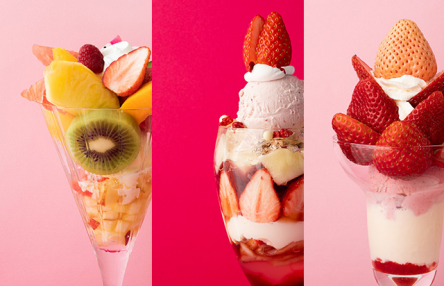 Three best fruit parfaits from Takano Fruit Parlor, Patisserie Asako Iwayanagi, and Fruits Parlor Goto